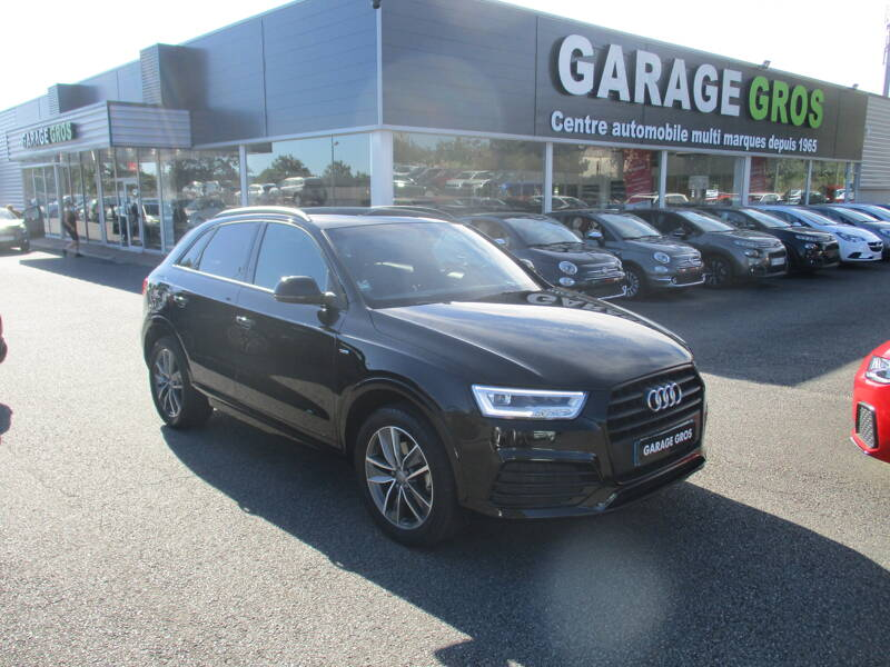 Voir la photo n°1 de la voiture d'occasion AUDI Q3 — 2.0 TDI 150 ch S tronic 7 Midnight Series